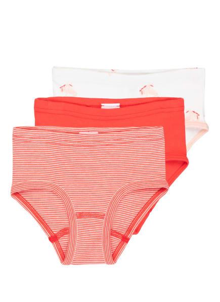 Sanetta 3er-Pack Slips , Farbe: WEISS/ ROT/ ROSÉ (Bild 1)