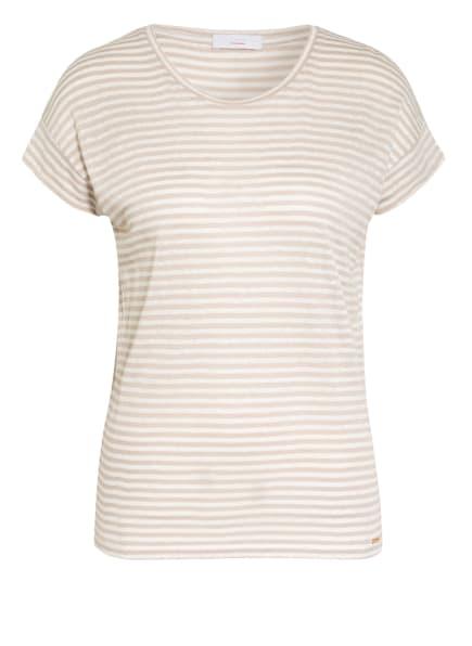 CINQUE T-Shirt CITICK mit Leinen, Farbe: CREME/ BEIGE (Bild 1)