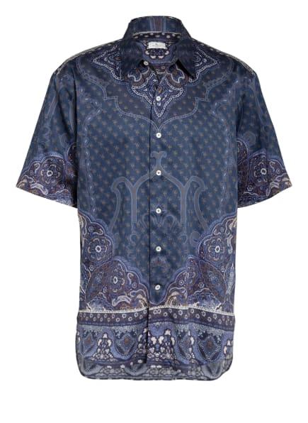 ETRO Kurzarm-Hemd Comfort Fit, Farbe: DUNKELBLAU/ CAMEL/ HELLGRAU (Bild 1)