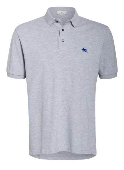 ETRO Piqué-Poloshirt Comfort Fit, Farbe: HELLGRAU (Bild 1)