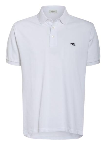 ETRO Piqué-Poloshirt Comfort Fit, Farbe: WEISS (Bild 1)