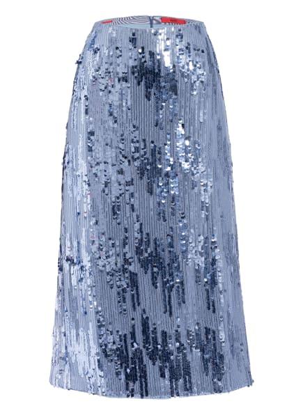 HUGO Rock ROLEA mit Paillettenbesatz, Farbe: HELLBLAU (Bild 1)