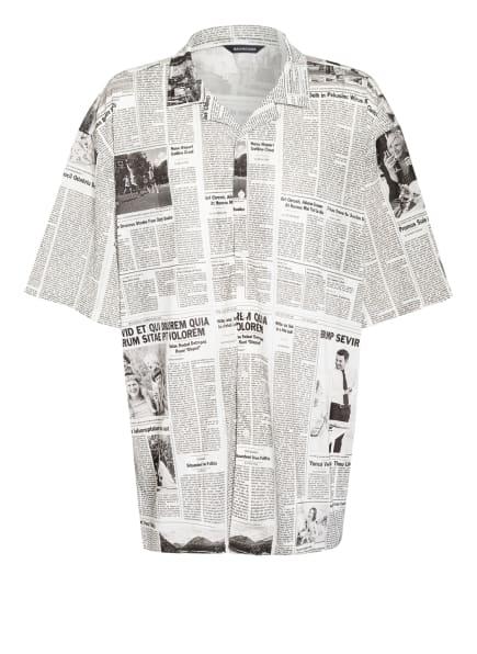 BALENCIAGA Oversized-Resorthemd Comfort Fit, Farbe: WEISS/ SCHWARZ (Bild 1)