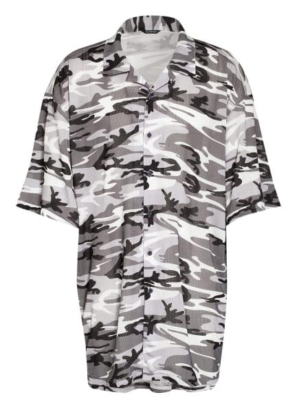 BALENCIAGA Oversized-Hemd Comfort Fit, Farbe: SCHWARZ/ WEISS/ GRAU (Bild 1)