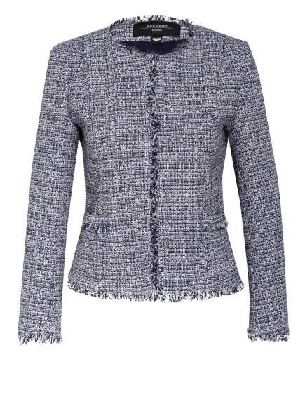WEEKEND MaxMara Tweed-Jacke PONTE, Farbe: DUNKELBLAU/ WEISS (Bild 1)