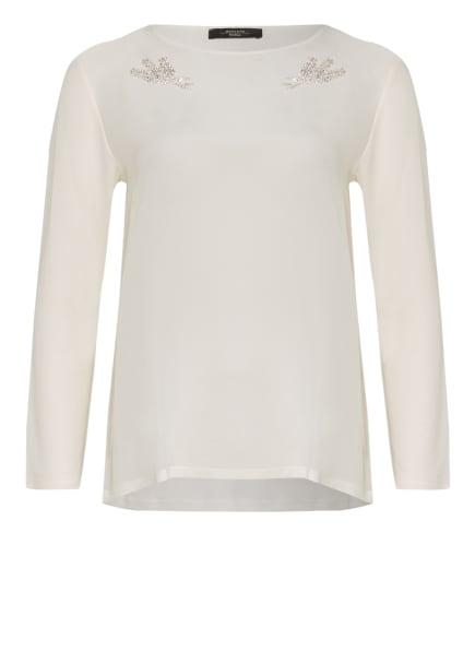 WEEKEND MaxMara Blusenshirt im Materialmix, Farbe: WEISS (Bild 1)