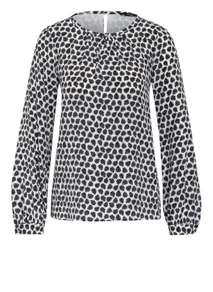 WEEKEND MaxMara Blusenshirt aus Seide, Farbe: WEISS/ SCHWARZ (Bild 1)
