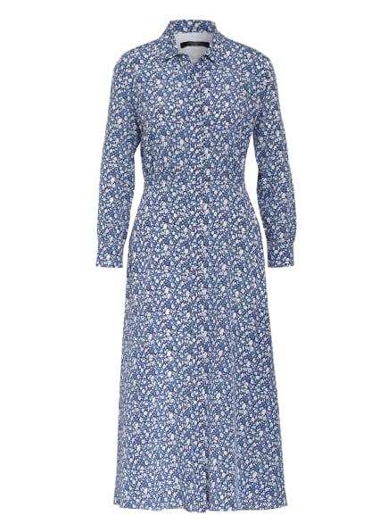 WEEKEND MaxMara Hemdblusenkleid MISS aus Seide, Farbe: DUNKELBLAU/ BLAU/ CREME (Bild 1)