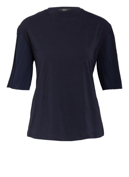 WEEKEND MaxMara T-Shirt im Materialmix, Farbe: DUNKELBLAU (Bild 1)