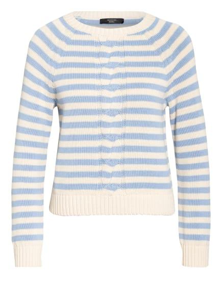 WEEKEND MaxMara Pullover, Farbe: ECRU/ HELLBLAU (Bild 1)