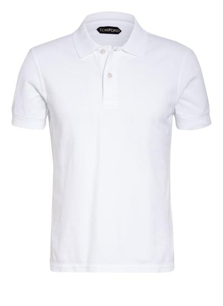 TOM FORD Piqué-Poloshirt, Farbe: WEISS (Bild 1)