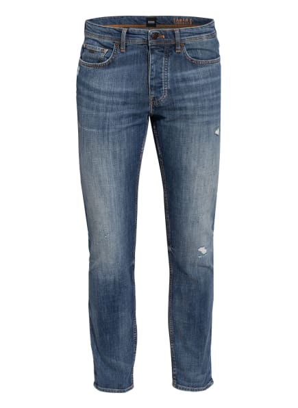 BOSS Destroyed Jeans TABER Tapered Fit, Farbe: 415 NAVY (Bild 1)