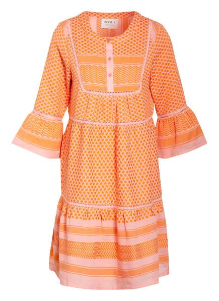 CECILIE COPENHAGEN Kleid JADEE mit 3/4-Arm, Farbe: ROSA/ ORANGE (Bild 1)