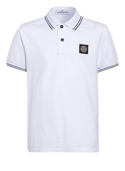 STONE ISLAND JUNIOR Poloshirt, Farbe: WEISS/ SCHWARZ (Bild 1)