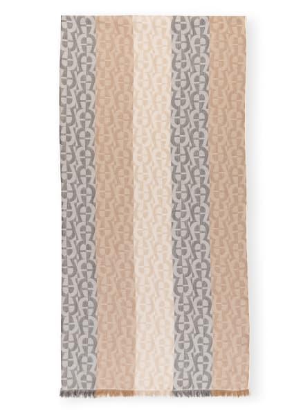 AIGNER Schal mit Seide, Farbe: BEIGE/ CAMEL/ DUNKELBRAUN (Bild 1)