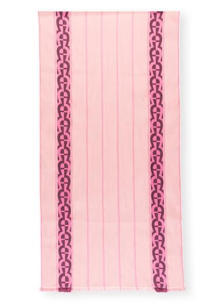 AIGNER Schal mit Leinen, Farbe: ROSA/ DUNKELROT (Bild 1)