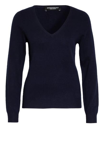 REPEAT Cashmere-Pullover, Farbe: DUNKELBLAU (Bild 1)