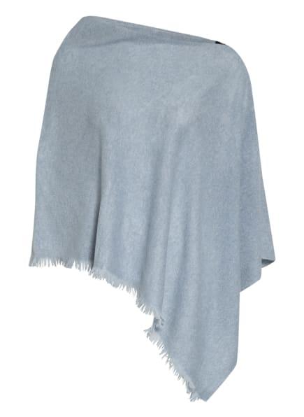 REPEAT Cashmere-Poncho, Farbe: BLAUGRAU (Bild 1)