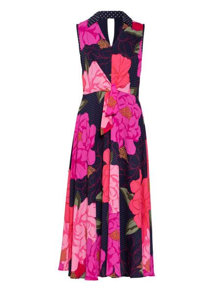 Joseph Ribkoff Kleid, Farbe: DUNKELBLAU/ HELLROT/ HELLGRÜN (Bild 1)