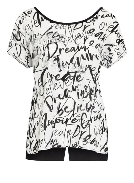 Joseph Ribkoff T-Shirt mit Schmucksteinbesatz, Farbe: SCHWARZ/ WEISS (Bild 1)