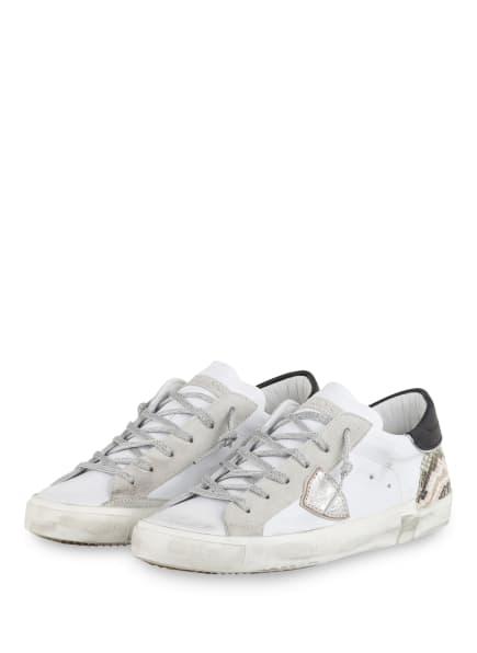 PHILIPPE MODEL Sneaker, Farbe: WEISS/ SILBER/ SCHWARZ (Bild 1)