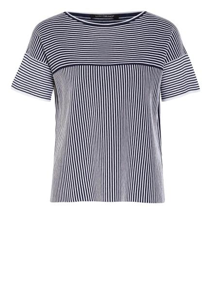 LUISA CERANO Strickshirt, Farbe: DUNKELBLAU/ WEISS (Bild 1)