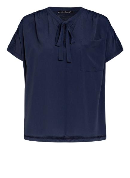 LUISA CERANO Blusenshirt mit Seide, Farbe: DUNKELBLAU (Bild 1)