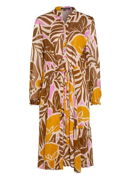 LUISA CERANO Kleid, Farbe: BRAUN/ DUNKELGELB/ WEISS (Bild 1)