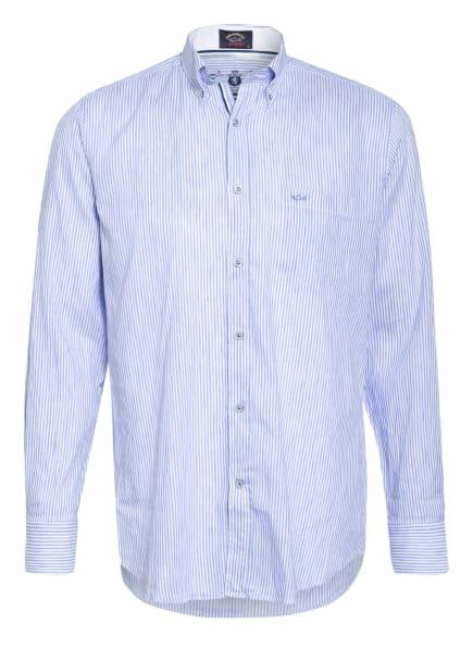 PAUL & SHARK Set: Hemd Regular Fit und Mund- und Nasenmaske, Farbe: HELLBLAU/ WEISS (Bild 1)