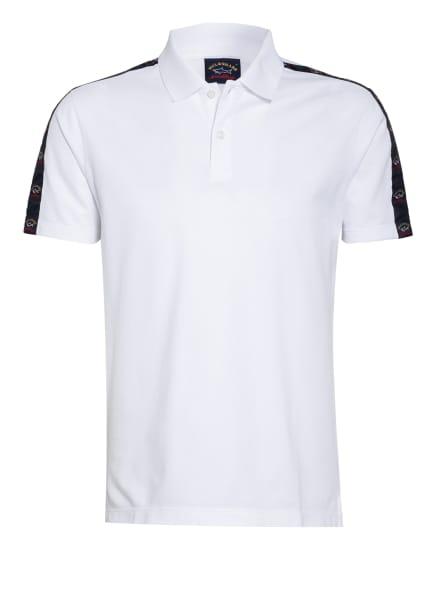 PAUL & SHARK Piqué-Poloshirt mit Galonstreifen, Farbe: WEISS (Bild 1)