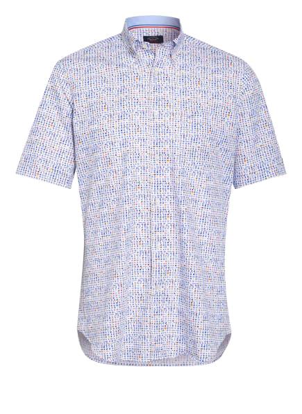 PAUL & SHARK Set: Kurzarm-Hemd und Mund- und Nasenmaske, Farbe: WEISS/ BLAU/ GELB (Bild 1)