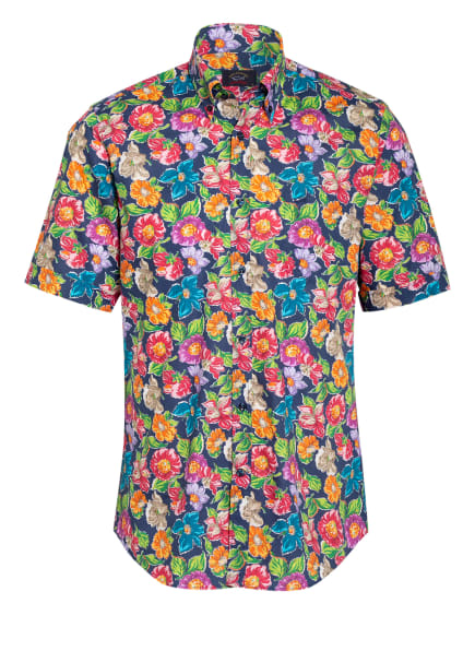 PAUL & SHARK Kurzarm-Hemd Regular Fit, Farbe: BLAU/ ROT/ GRÜN (Bild 1)