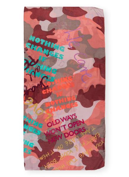 CODELLO Tuch , Farbe: GRAU/ DUNKELROT/ ORANGE (Bild 1)