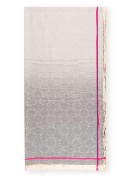 CODELLO Schal mit Glitzergarn, Farbe: HELLGRAU/ GOLD/ PINK (Bild 1)