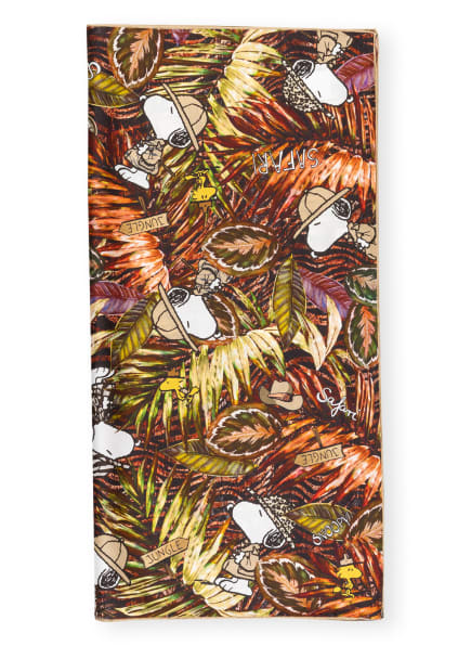 CODELLO Seidentuch, Farbe: BRAUN/ GRÜN/ DUNKELROT (Bild 1)