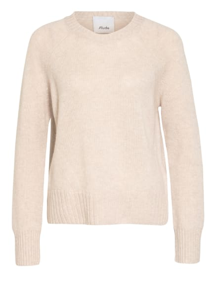 ALLUDE Cashmere-Pullover, Farbe: CAMEL/ CREME (Bild 1)