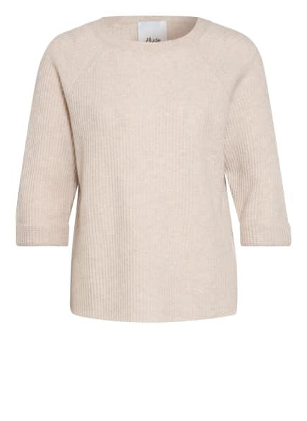 ALLUDE Cashmere-Pullover mit 3/4-Arm, Farbe: BEIGE (Bild 1)