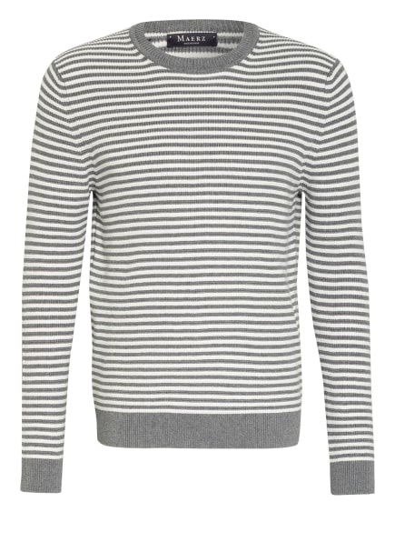 MAERZ MUENCHEN Pullover , Farbe: GRAU/ WEISS (Bild 1)