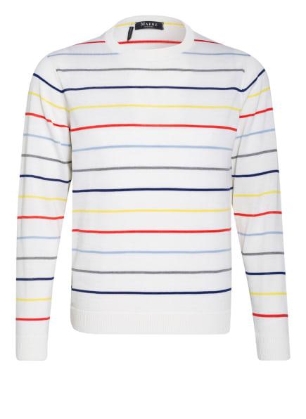 MAERZ MUENCHEN Pullover, Farbe: WEISS/ GELB/ ROT (Bild 1)