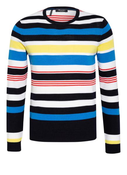 MAERZ MUENCHEN Pullover, Farbe: DUNKELBLAU/ WEISS/ GELB (Bild 1)
