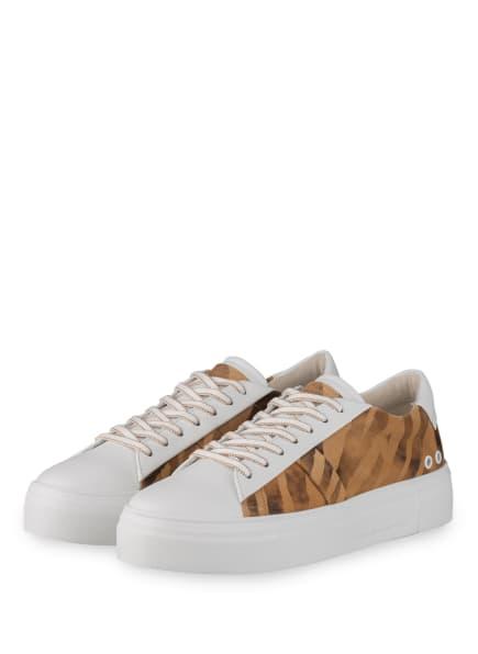 KENNEL & SCHMENGER Sneaker, Farbe: WEISS/ CAMEL/ BRAUN (Bild 1)
