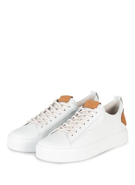 KENNEL & SCHMENGER Sneaker UP, Farbe: WEISS/ CAMEL (Bild 1)
