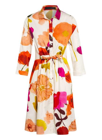 FFC Kleid mit 3/4-Arm, Farbe: WEISS/ LACHS/ DUNKELGELB (Bild 1)