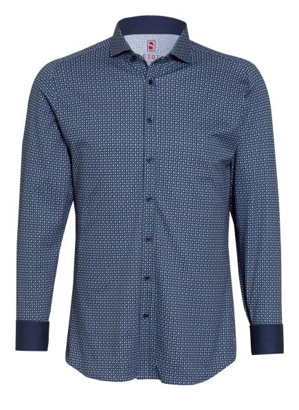 DESOTO Jerseyhemd Slim Fit, Farbe: BLAU/ HELLBLAU/ ROT (Bild 1)