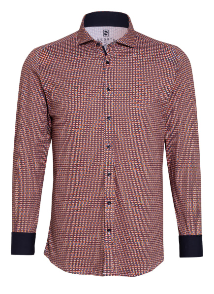 DESOTO Jerseyhemd Slim Fit , Farbe: DUNKELBLAU/ GELB/ ORANGE (Bild 1)