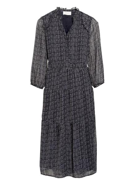 NEO NOIR Kleid HELENA mit 3/4-Arm, Farbe: DUNKELBLAU/ WEISS (Bild 1)