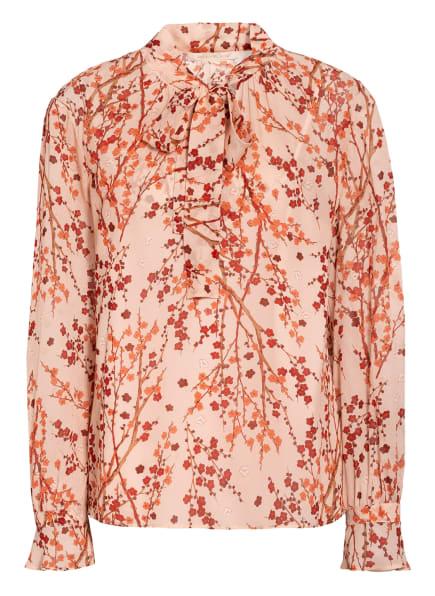 PENNYBLACK Blusenshirt SOLEIL mit Schluppe, Farbe: NUDE/ LACHS/ DUNKELROT (Bild 1)