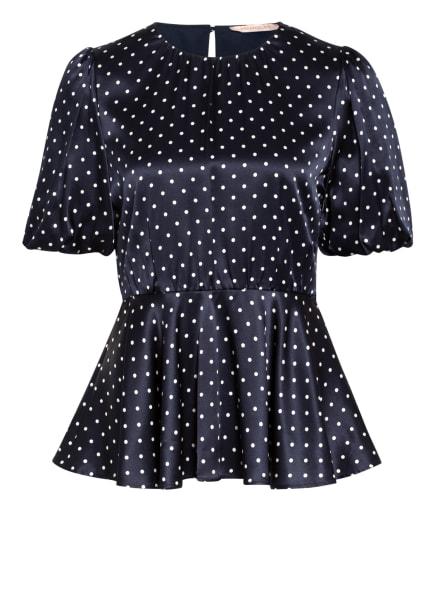 PENNYBLACK Blusenshirt CAPUA mit Seide, Farbe: DUNKELBLAU/ WEISS (Bild 1)