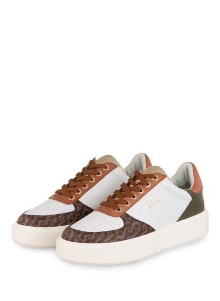 AIGNER Sneaker SALLY, Farbe: WEISS/ BRAUN/ OLIV (Bild 1)