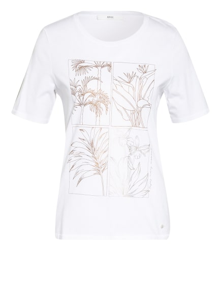 BRAX T-Shirt CIRA, Farbe: WEISS/ BRAUN (Bild 1)